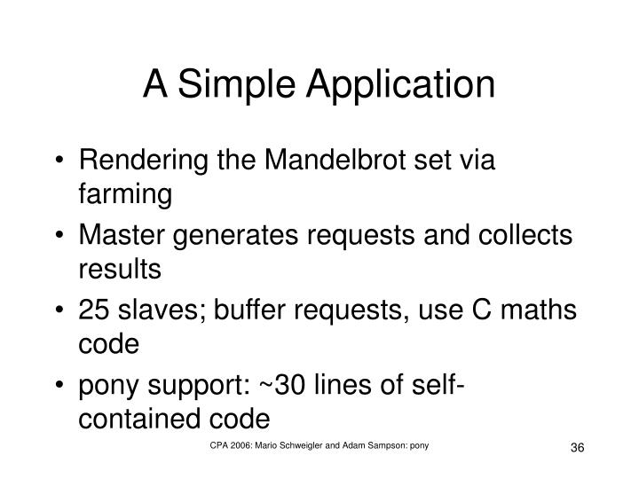A Simple Application