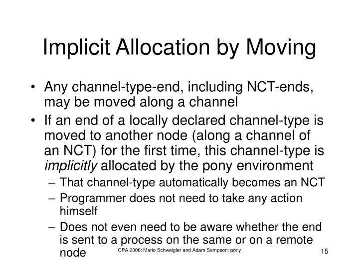 Implicit Allocation by Moving