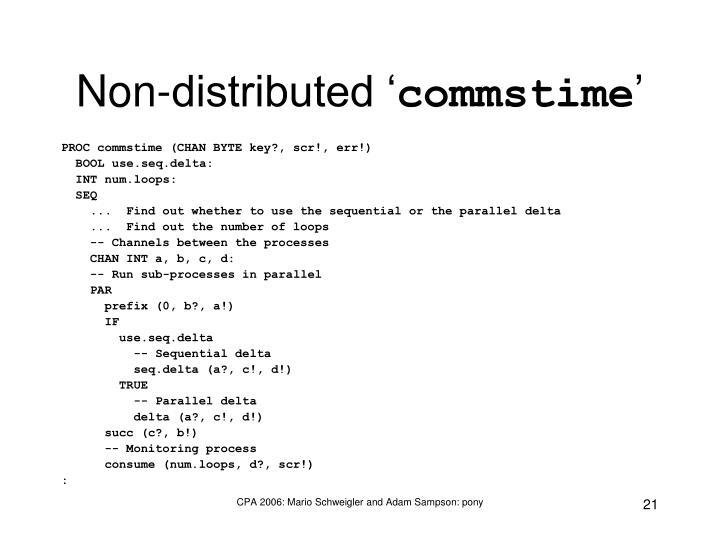 Non-distributed '