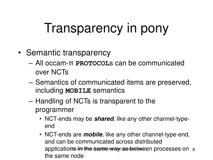 Transparency in pony