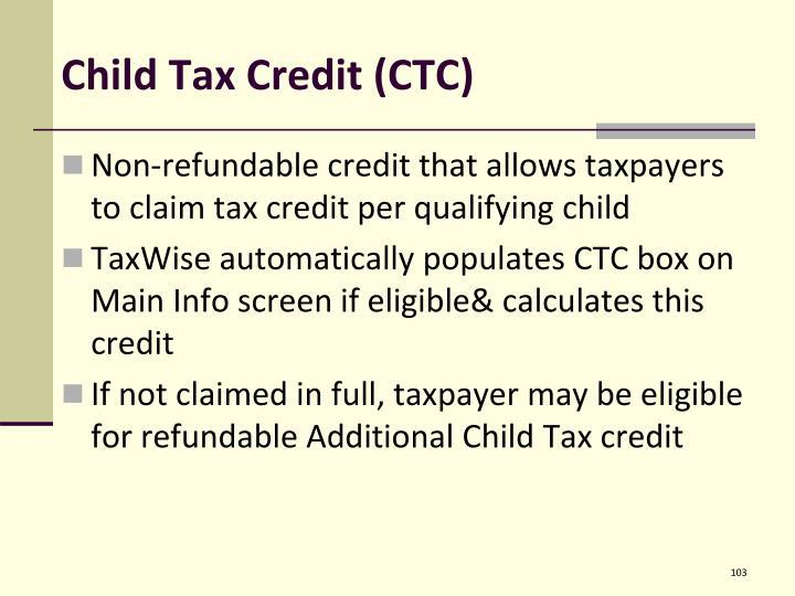 Child Tax Credit (CTC)