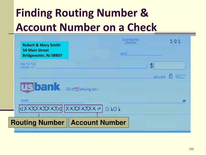 Finding Routing Number & Account Number on a Check
