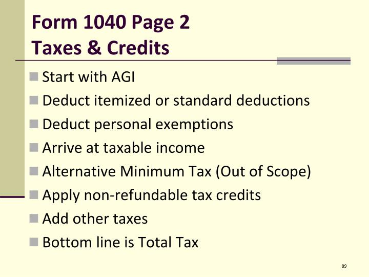 Form 1040 Page 2