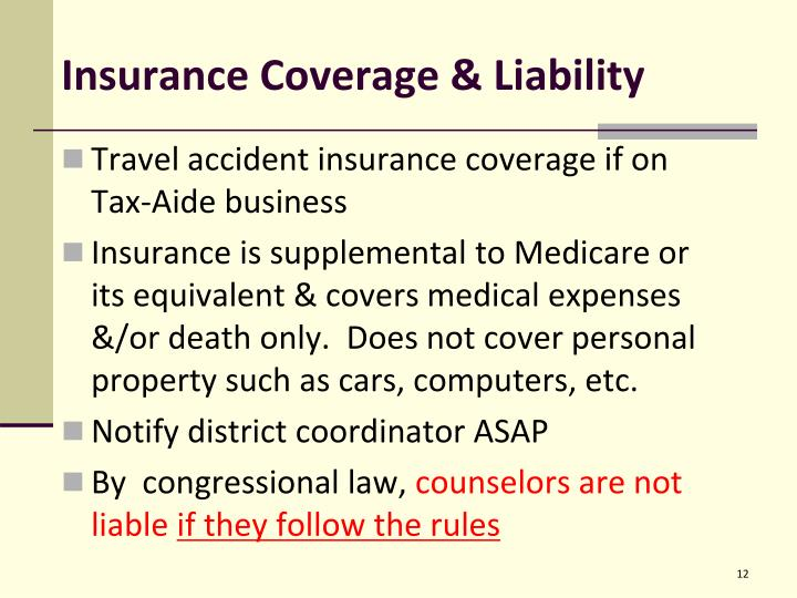 Insurance Coverage & Liability