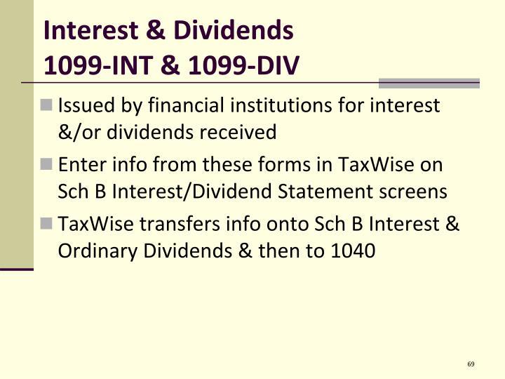 Interest & Dividends