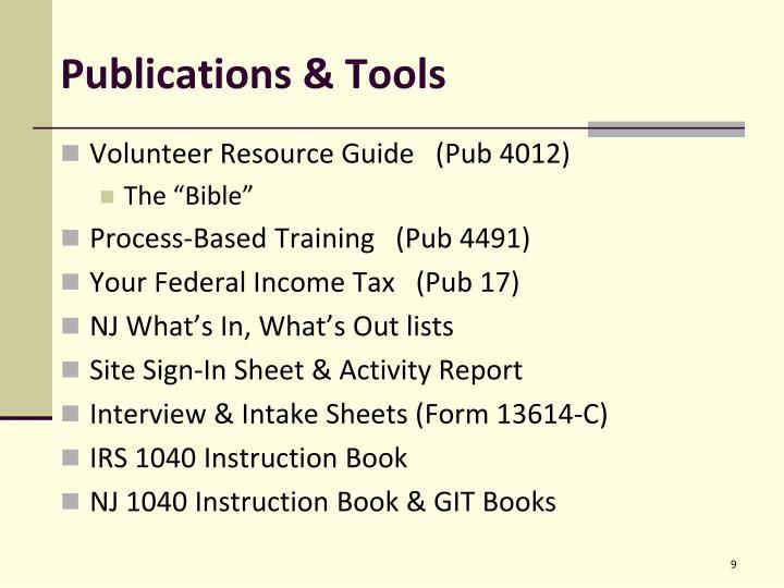 Publications & Tools