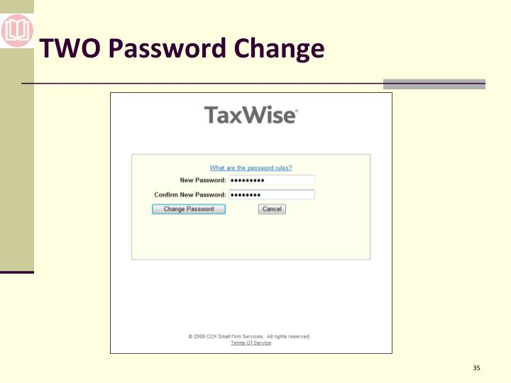 TWO Password Change