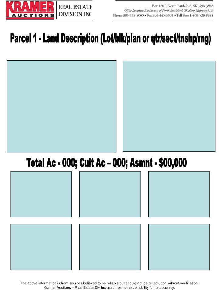 Parcel 1 - Land Description (Lot/blk/plan or qtr/sect/tnshp/rng)