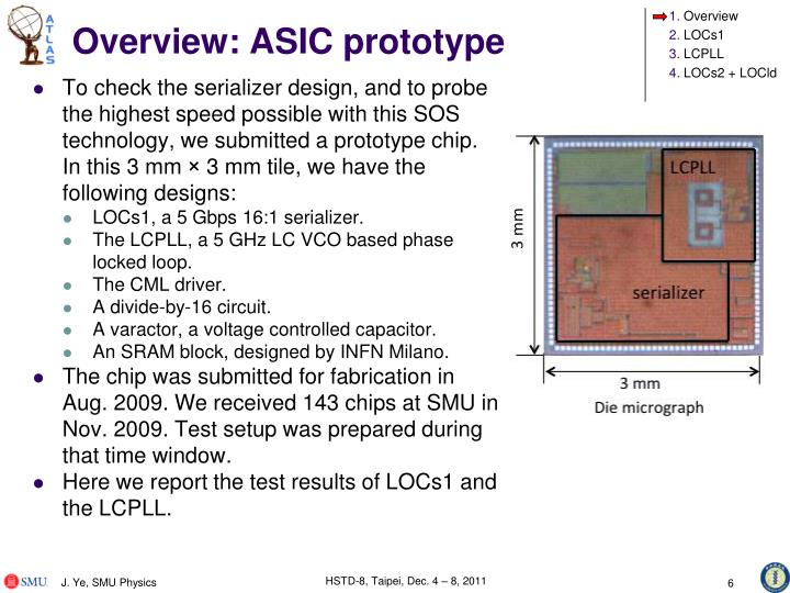 Overview: ASIC