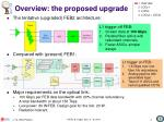 overview the proposed upgrade