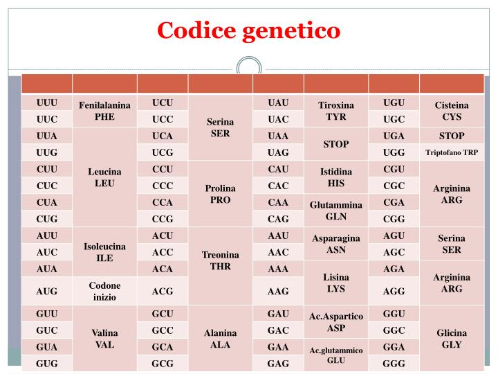 Codice genetico