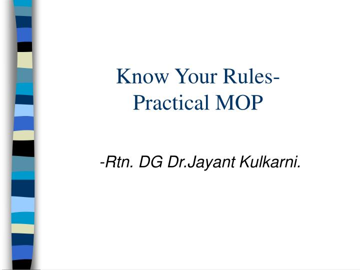 Know your rules practical mop