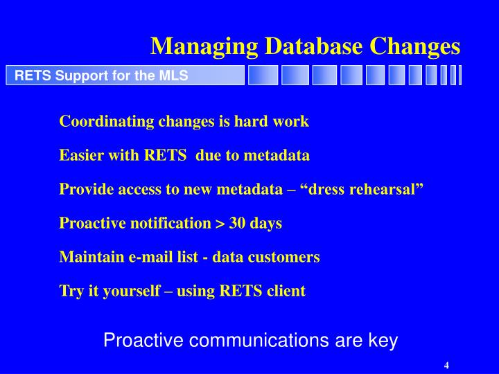 Managing Database Changes