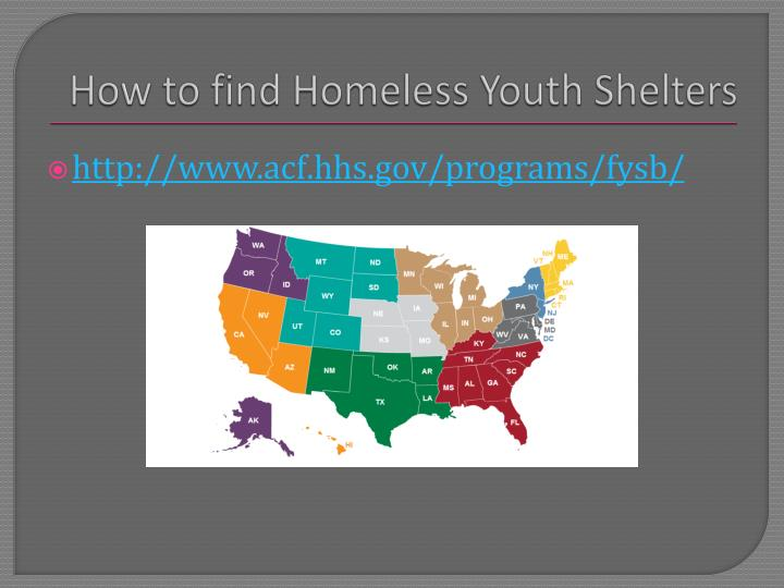 How to find Homeless Youth Shelters