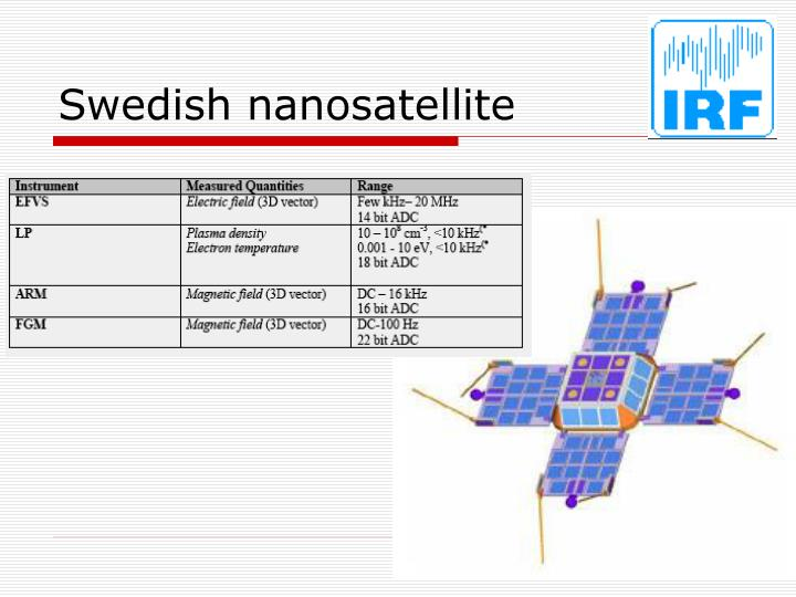 Swedish nanosatellite