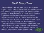 knuth binary trees