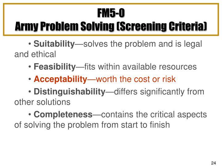 FM5-0