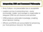 integrating crm and command philosophy