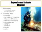 supervise and evaluate assess