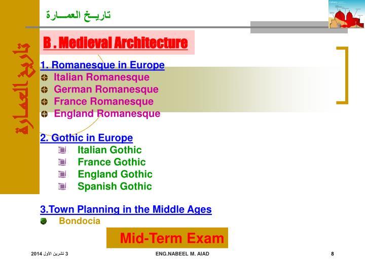 1. Romanesque in Europe