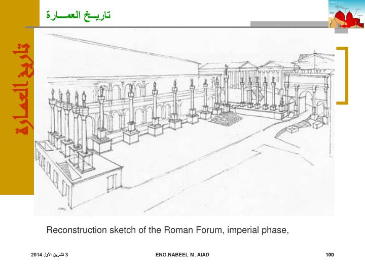 Reconstruction sketch of the Roman Forum, imperial phase,