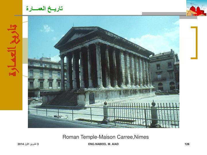 Roman Temple-Maison Carree,Nimes