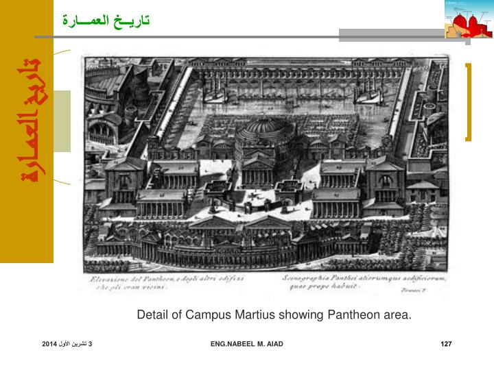 Detail of Campus Martius showing Pantheon area.