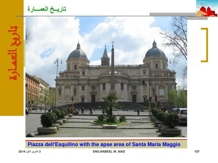 Piazza dell'Esquilino with the apse area of Santa Maria Maggio