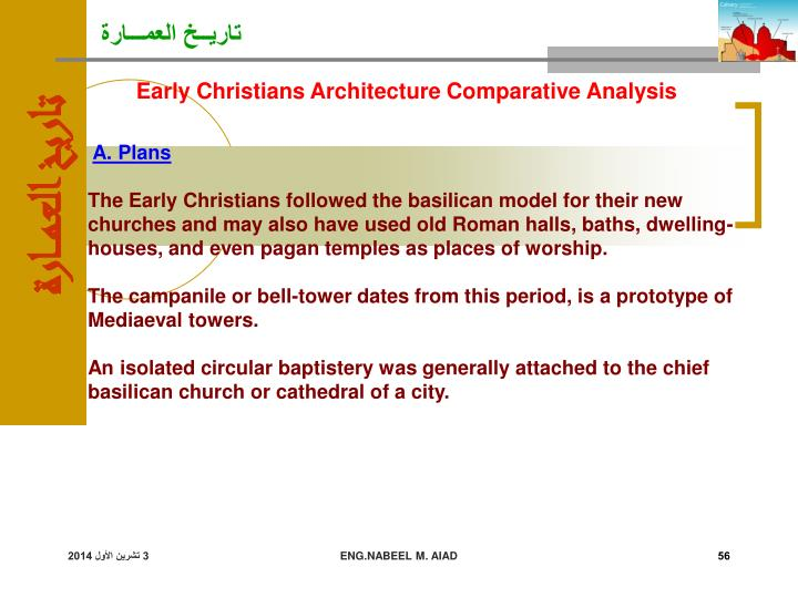 Early Christians Architecture Comparative Analysis