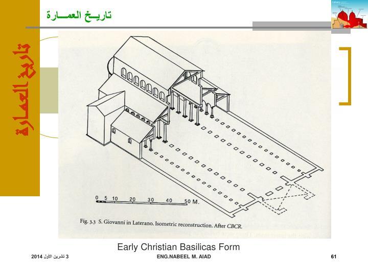 Early Christian Basilicas Form