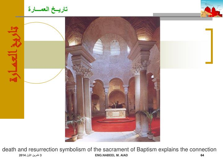 death and resurrection symbolism of the sacrament of Baptism explains the connection