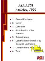aia a201 articles 1999