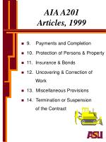 aia a201 articles 19991