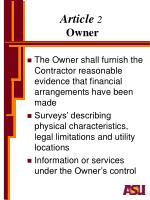 article 2 owner