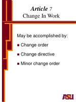 article 7 change in work