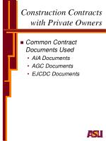construction contracts with private owners