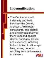 indemnification