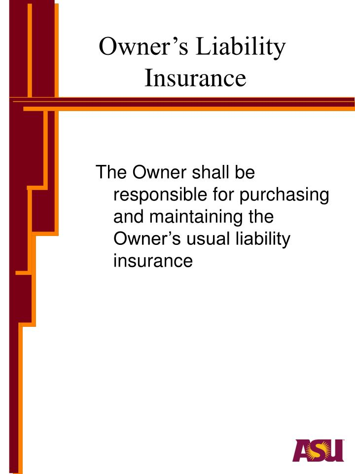 Owner's Liability