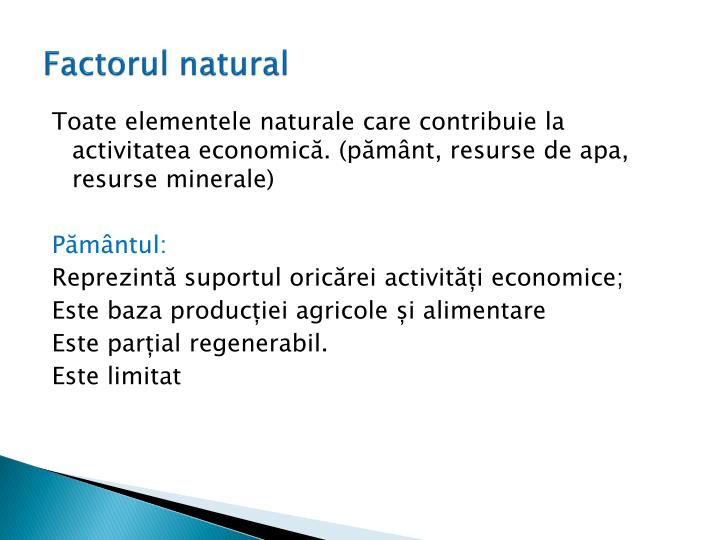 Factorul natural