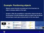 example positioning objects
