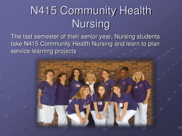 N415 Community Health Nursing