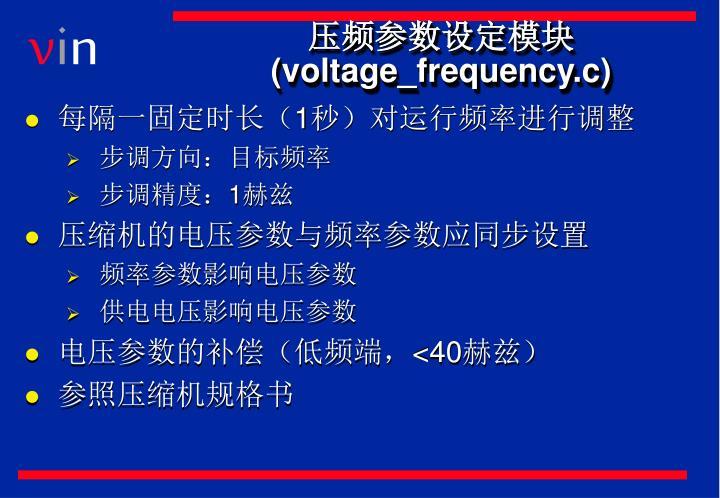 压频参数设定模块(