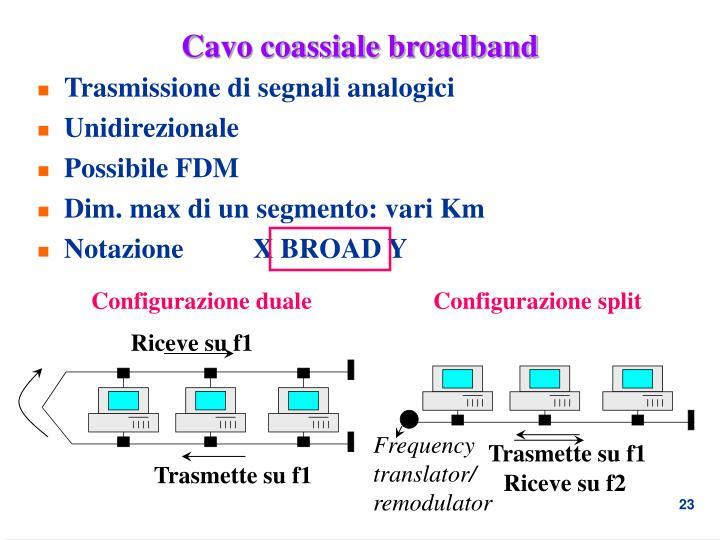 Cavo coassiale broadband