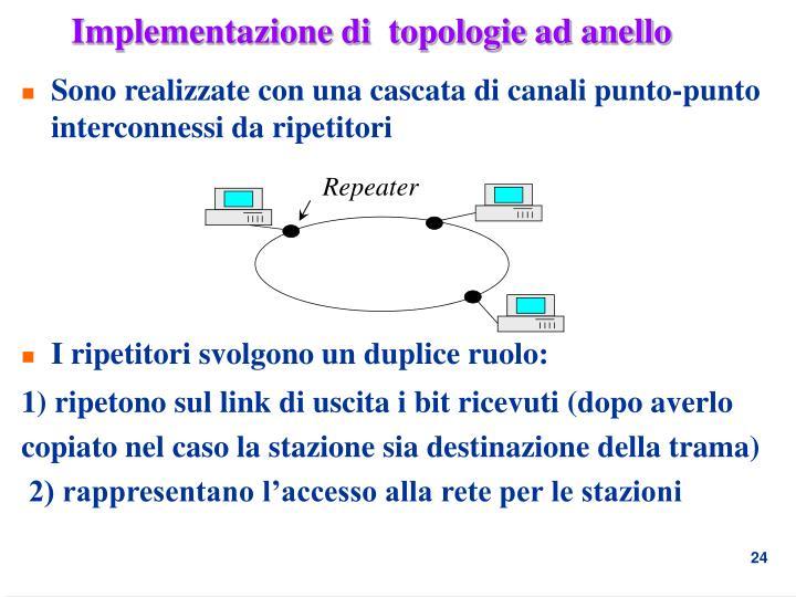 Implementazione di  topologie ad anello