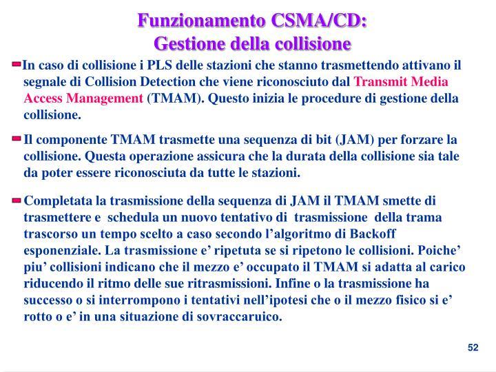 Funzionamento CSMA/CD: