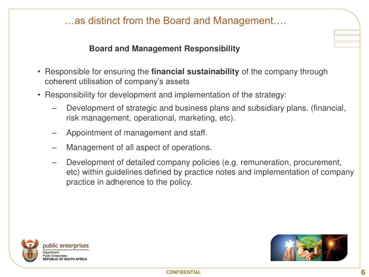 …as distinct from the Board and Management….