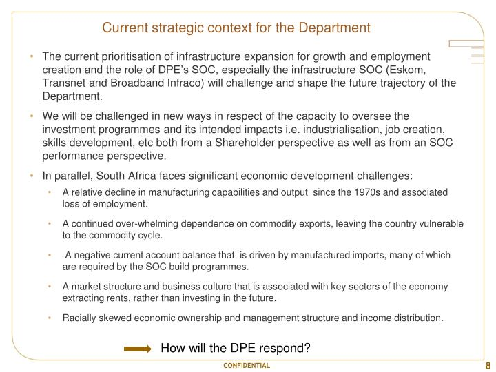 Current strategic context for the Department