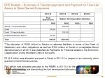 dpe budget summary of transfer payments and payment for financial assets to state owned companies