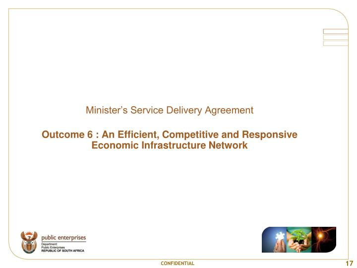 Minister's Service Delivery Agreement