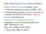 individual based coevolution model
